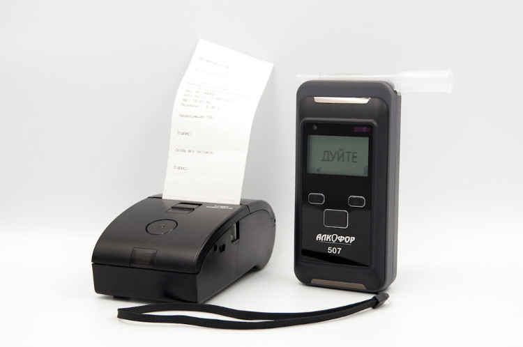 Алкотестер АлкоФор 507 з мобільним принтером